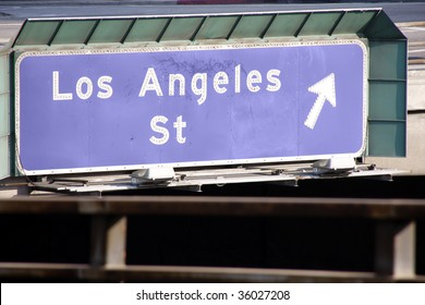 Los Angeles St Sign