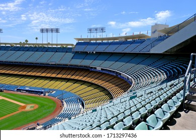 Los Angeles, USA, 07/19/2019.  Dodger stadium.  Adjacent area to the sports arena