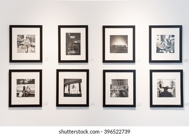 LOS ANGELES, USA - 27 February, 2016 Vivian Maier Exhibition at Merry Karnowsky Gallery. Merry Karnowsky Gallery, Los Angeles CA, United States.