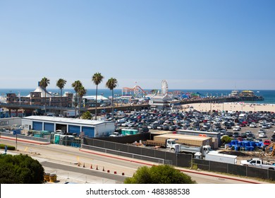 Los Angeles, USA - 9th August, 2015: The Pacific Coast Highway as seen from Santa Monica in Los Angeles, California, USA