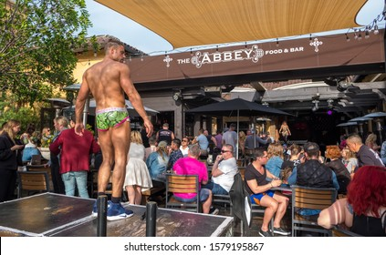 LOS ANGELES, USA, - APRIL, 1, 2018: At the Abbey, West Hollywood's famous gay bar, Los Angeles, California.