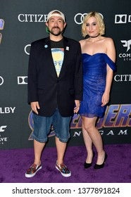 """LOS ANGELES, USA. April 22, 2019: Kevin Smith & Harley Quinn Smith at the world premiere of Marvel Studios' """"Avengers: Endgame"""".Picture: Paul Smith/Featureflash"""