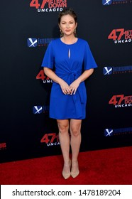"""LOS ANGELES, USA. August 14, 2019: Lauren Zima at the premiere of """"47 Meters Down: Uncaged"""" at the Regency Village Theatre.Picture: Paul Smith/Featureflash"""