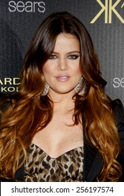 LOS ANGELES, USA - AUGUST 17: Khloe Kardashian at the Kardashian Kollection Launch Party held at the Colony in Hollywood, USA on August 17, 2011.