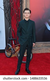 "LOS ANGELES, USA. August 27, 2019: Jaeden Martell at the premiere of ""IT Chapter Two"" at the Regency Village Theatre.