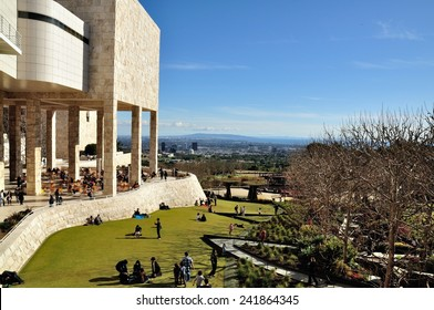LOS ANGELES, USA - February 21, 2011: The J. Paul Getty Museum, known as the Getty, is an art museum in California.