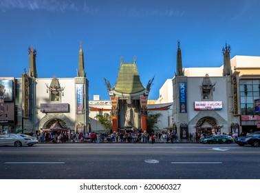 LOS ANGELES, USA - January 07, 2017: Grauman's Chinese Theater on Hollywood Boulevard - Los Angeles, California, USA