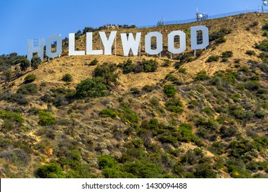 LOS ANGELES, USA - JULY 04, 2018, Hollywood sign in the Hollywood hills in California, the most recognizable and popular sign in the world, is associated with success and glamorous lifestyle. Concept