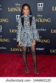 """LOS ANGELES, USA. July 10, 2019: Kelly Rowland at the world premiere of Disney's """"The Lion King"""" at the Dolby Theatre.Picture: Paul Smith/Featureflash"""