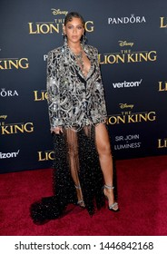 "LOS ANGELES, USA. July 10, 2019: Beyonce Knowles-Carter at the world premiere of Disney's ""The Lion King"" at the Dolby Theatre.