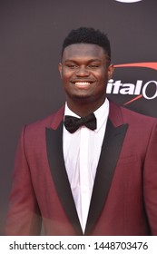LOS ANGELES, USA. July 10, 2019: Zion Williamson at the 2019 ESPY Awards at the Microsoft Theatre LA Live.Picture: Paul Smith/Featureflash