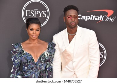 LOS ANGELES, USA. July 10, 2019: Gabrielle Union & Dwyane Wade at the 2019 ESPY Awards at the Microsoft Theatre LA Live.Picture: Paul Smith/Featureflash