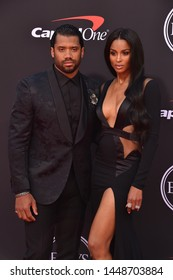 LOS ANGELES, USA. July 10, 2019: Ciara & Russell Wilson at the 2019 ESPY Awards at the Microsoft Theatre LA Live.Picture: Paul Smith/Featureflash