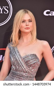 LOS ANGELES, USA. July 10, 2019: Elle Fanning at the 2019 ESPY Awards at the Microsoft Theatre LA Live.Picture: Paul Smith/Featureflash