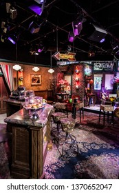 Los Angeles / USA - July 2017 , Friends TV Show. Central Perk Cafe set in Warner Bros Studio in Burbank