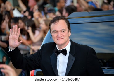 "LOS ANGELES, USA. July 23, 2019: Quentin Tarantino at the premiere of ""Once Upon A Time In Hollywood"" at the TCL Chinese Theatre.
