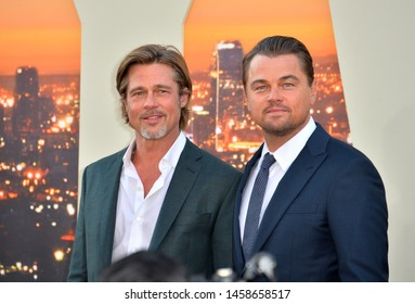 """LOS ANGELES, USA. July 23, 2019: Brad Pitt & Leonardo DiCaprio at the premiere of """"Once Upon A Time In Hollywood"""" at the TCL Chinese Theatre.Picture: Paul Smith/Featureflash"""