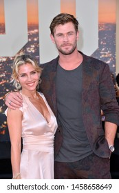 "LOS ANGELES, USA. July 23, 2019: Chris Hemsworth & Elsa Pataky at the premiere of ""Once Upon A Time In Hollywood"" at the TCL Chinese Theatre.