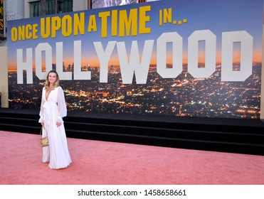 """LOS ANGELES, USA. July 23, 2019: Margot Robbie at the premiere of """"Once Upon A Time In Hollywood"""" at the TCL Chinese Theatre.Picture: Paul Smith/Featureflash"""