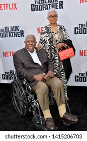 """LOS ANGELES, USA. June 04, 2019: Hank Aaron & Billye Aaron at the premiere for """"The Black Godfather"""" at Paramount Theatre.Picture: Paul Smith/Featureflash"""