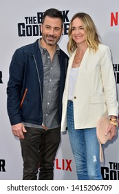 "LOS ANGELES, USA. June 04, 2019: Jimmy Kimmel & Molly McNearney at the premiere for ""The Black Godfather"" at Paramount Theatre.