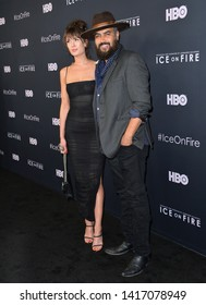 "LOS ANGELES, USA. June 06, 2019: Jonah Johnson & Shelby Bullard at the premiere for ""Ice on Fire"" at the LA County Museum of Art.