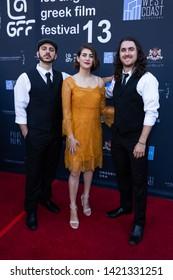 LOS ANGELES, USA - JUNE 09, 2019: Greek Rebetico Trio attends 13th Los Angeles Greek Film Festival 2019 Closing Night on June 09, 2019 in Egyptian Theatre in Los Angeles.