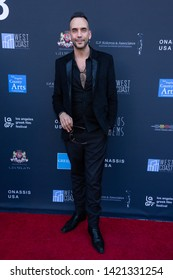 LOS ANGELES, USA - JUNE 09, 2019: Panos Mouzourakis attends 13th Los Angeles Greek Film Festival 2019 Closing Night on June 09, 2019 in Egyptian Theatre in Los Angeles.