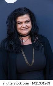 LOS ANGELES, USA - JUNE 09, 2019: Pamela Spyrs attends 13th Los Angeles Greek Film Festival 2019 Closing Night on June 09, 2019 in Egyptian Theatre in Los Angeles.