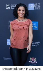LOS ANGELES, USA - JUNE 09, 2019: Anthoula Katsimatides attends 13th Los Angeles Greek Film Festival 2019 Closing Night on June 09, 2019 in Egyptian Theatre in Los Angeles.