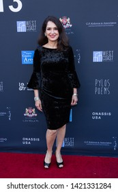 LOS ANGELES, USA - JUNE 09, 2019: Joanna Topetzes attends 13th Los Angeles Greek Film Festival 2019 Closing Night on June 09, 2019 in Egyptian Theatre in Los Angeles.