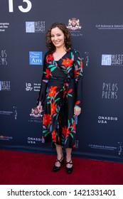 LOS ANGELES, USA - JUNE 09, 2019: Comedian Konstantina Mallios attends 13th Los Angeles Greek Film Festival 2019 Closing Night on June 09, 2019 in Egyptian Theatre in Los Angeles.