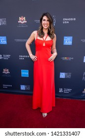 LOS ANGELES, USA - JUNE 09, 2019: Lia Bozonelis attends 13th Los Angeles Greek Film Festival 2019 Closing Night on June 09, 2019 in Egyptian Theatre in Los Angeles.