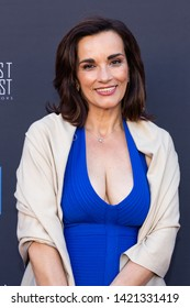 LOS ANGELES, USA - JUNE 09, 2019: Dena Romios attends 13th Los Angeles Greek Film Festival 2019 Closing Night on June 09, 2019 in Egyptian Theatre in Los Angeles.