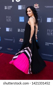 LOS ANGELES, USA - JUNE 09, 2019: Elena Evangelo attends 13th Los Angeles Greek Film Festival 2019 Closing Night on June 09, 2019 in Egyptian Theatre in Los Angeles.