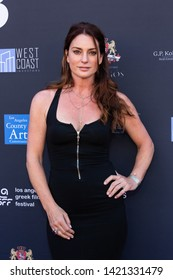 LOS ANGELES, USA - JUNE 09, 2019: Sharon McNeil attends 13th Los Angeles Greek Film Festival 2019 Closing Night on June 09, 2019 in Egyptian Theatre in Los Angeles.