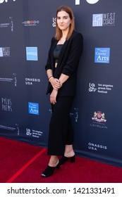 LOS ANGELES, USA - JUNE 09, 2019: Alevtyna Lopatonok attends 13th Los Angeles Greek Film Festival 2019 Closing Night on June 09, 2019 in Egyptian Theatre in Los Angeles.