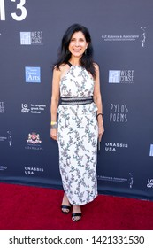 LOS ANGELES, USA - JUNE 09, 2019: Koula Sossiadis attends 13th Los Angeles Greek Film Festival 2019 Closing Night on June 09, 2019 in Egyptian Theatre in Los Angeles.