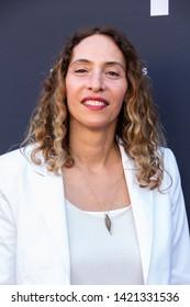 LOS ANGELES, USA - JUNE 09, 2019: Ioanna Tsinividi attends 13th Los Angeles Greek Film Festival 2019 Closing Night on June 09, 2019 in Egyptian Theatre in Los Angeles.