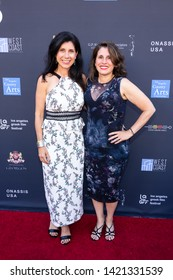 LOS ANGELES, USA - JUNE 09, 2019: Koula (L) and Katina Sossiadis attend 13th Los Angeles Greek Film Festival 2019 Closing Night on June 09, 2019 in Egyptian Theatre in Los Angeles.