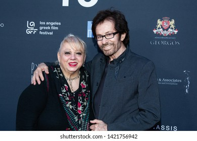 LOS ANGELES, USA - JUNE 09, 2019: Valorie Massalas (L), George Chakiris attend 13th Los Angeles Greek Film Festival 2019 Closing Night on June 09, 2019 in Egyptian Theatre in Los Angeles.