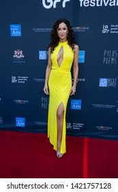 LOS ANGELES, USA - JUNE 09, 2019: Sofia Milos attends 13th Los Angeles Greek Film Festival 2019 Closing Night on June 09, 2019 in Egyptian Theatre in Los Angeles.
