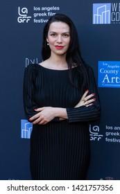 LOS ANGELES, USA - JUNE 09, 2019: Evangelina Kranioti attends 13th Los Angeles Greek Film Festival 2019 Closing Night on June 09, 2019 in Egyptian Theatre in Los Angeles.