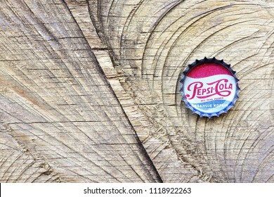 LOS ANGELES , USA - JUNE 12, 2016 Pepsi Cola Cap. Pepsi is a carbonated soft drink that is produced and manufactured by PepsiCo