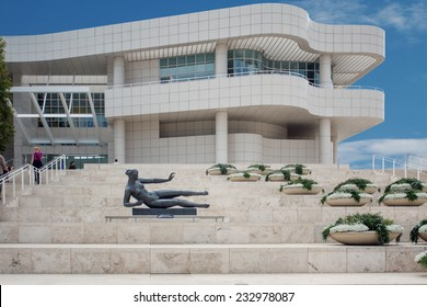 LOS ANGELES, USA - JUNE 4, 2009: The Getty Center museum in Los Angeles California USA was designed by architect Richard Meier in 1997