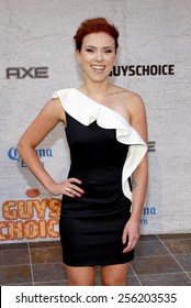 LOS ANGELES, USA - JUNE 6: Scarlett Johansson at the Spike TV's 5th Annual 2011 Guys Choice Awards held at the Sony Pictures Studios in Culver City, USA on June 6, 2011.