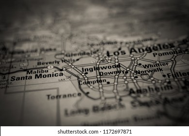 Los Angeles, USA map background