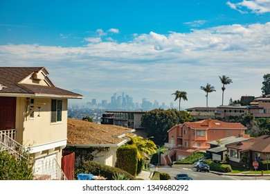 LOS ANGELES, USA - MAR 5, 2019: Beautiful living area in Crenshaw. Crenshaw District, is a neighborhood in the South Los Angeles region of Los Angeles, California.