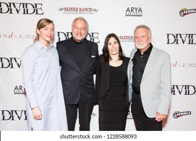 "LOS ANGELES, USA - NOVEMBER 05, 2018: Left to right: Hannah King, Perry King, Jana Brown, Russ Rayburn attend Los Angeles premiere of ""The Divide"" movie in Beverly Hills on November 5, 2018."