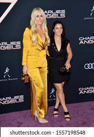 """LOS ANGELES, USA. November 12, 2019: Lindsey Vonn & Aly Raisman at the world premiere of """"Charlie's Angels"""" at the Regency Village Theatre.Picture: Paul Smith/Featureflash"""